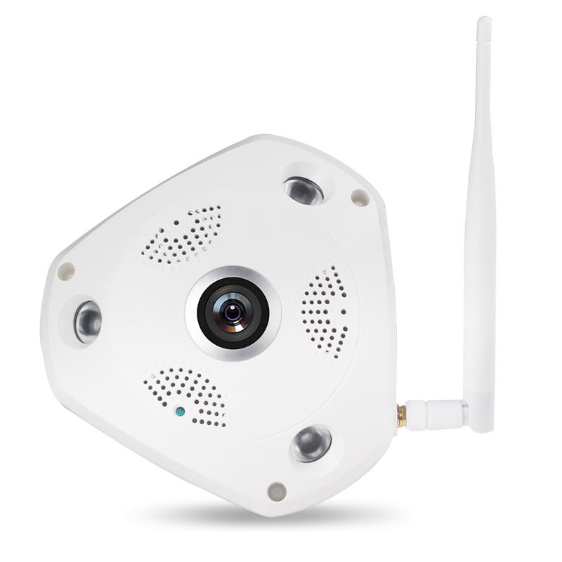 360度全景摄像头vr 无线wifi高清网络摄像机广角鱼眼室内监控器